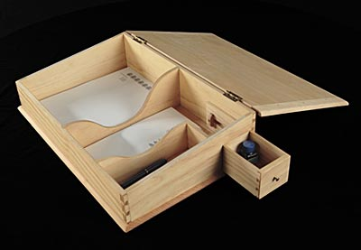 A Small Travel Or Lap Desk Designed For Stationery Envelopes Pens And If You Re So Inclined An Ink Bottle In The Drawer